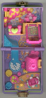 1996 - Polly Pocket Polly's Toy Land - Enchanted Storybook - Bluebird Toys
