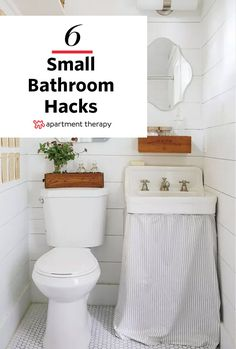 Small Space Solutions: Hacks to Upgrade Your Compact Bathroom Vanity | Do you have a tiny bathroom without a vanity? Sure, you could go on without a vanity, but you know there always seem to be this mound of things around the sink begging to be put away, begging to be placed out of sight. Perhaps one of these small space bathroom vanity hacks could be the solution to your no storage and no space woes?