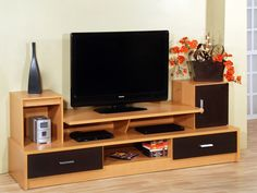 DIY TV Stand Ideas You Can Build Right Now. You may think that having a TV stand is not really important. Just pick any suitable furniture around your living room. Tv Unit Furniture, Home Decor Furniture, Furniture Design, Tv Unit Decor, Tv Wall Decor, Tv Cabinet Design, Tv Wall Design, Home Room Design, House Design