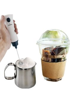 Multi Purpose: egg beating, mixing protein shakes, milk, coffee, hot chocolate, and others Stylish Design: soft-touch ergonomic handle, a long plastic cylinder cover that fits over the spinning wand for storage. Built-in Battery: it is Rechargeable, this Milk Frother can be used again and again to create your favourite hot beverages. Portable: take it away on holidays or camping trips to add something special to your hot drinks. Product Dimensions 13.5 x 2.3 x 4.1 inches Item Weight 7.7 ounces Milk Frothers, Plastic Cylinder, Protein Shakes, Wands, Hot Chocolate, Spinning, Latte, Trips, Purpose