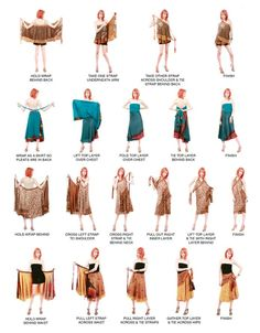 Instructions how to wrap those multi way tie-up skirt dress thing-ies :)