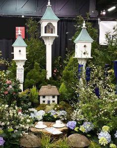 Copper/Vinyl Birdhouses & Feeders~ Inspiration for spring gardens and…