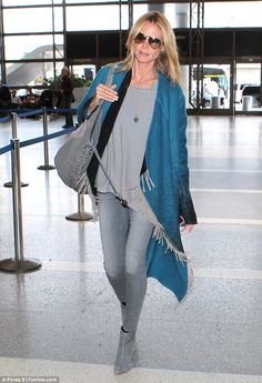 Born to be beautiful: Heidi Klum required little effort to look fabulous as she strolled t...