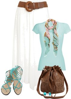 """""""Maxi Skirt 5"""" by johnna-cameron ❤ liked on Polyvore"""