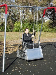 playground equipment for special needs kids | Special Needs Swing Platform with Frame :: Swings and swing sets ...