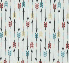changing pad cover in Organic Bright Tribal Arrows