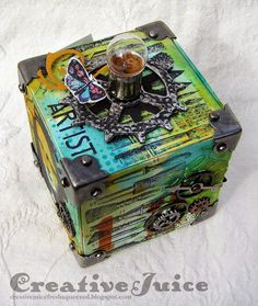 Creative Juice: Tim Holtz - August 12 Tags of 2014… also in the form of an ATB!