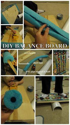 diy balance board   for the kiddos / DIY Balance Board from timandmeg.net