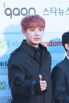 Chanyeol - 160217 5th Gaon Chart K-POP Awards, red carpet DAILYEXO