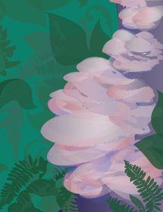 Mushroom Series #4  Selena Dugan-Fields Series 4, Selena, Fields, Stuffed Mushrooms, Abstract, Create, Artwork, Stuff Mushrooms, Summary