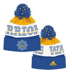 Golden State Warriors adidas Filipino Heritage Cuffed Pom Knit Hat -  Royal Gold - Golden. Basketball ... d12f0e21f7be