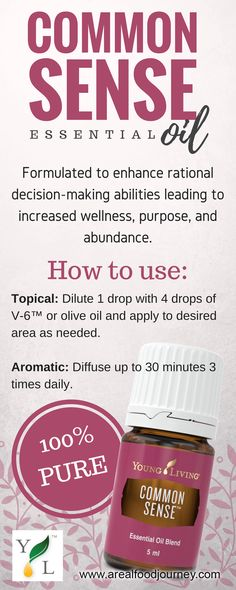 Common Sense Essential Oil Helps you make good decisions