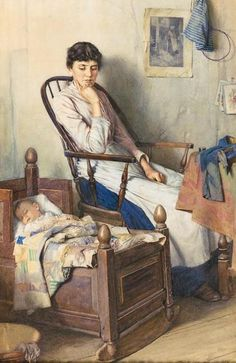 Walter Langley__Motherhood - Classic Art Paintings