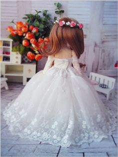 1/6 BJD wedding gown sd dolls clothes yosd dress by ToyFamily