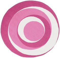 """8' Round Kids Round Area Rug Bright Colored Circle Design  