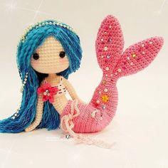 "1,331 Likes, 31 Comments -  ⓝⓐⓝⓒⓨ  (@ilovecrochet_nancy) on Instagram: ""Beautiful Mermaid Ava 魅力无法挡的美人鱼艾娃  (lovely pattern by @lydiawlc )"""