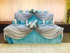 blue and silver quinceanera decorations | Silver and Tiffany Blue Decor