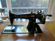 Bel Air Imperial converted to hand crank. Sewing Machines, Bel Air, Treadle Sewing Machines