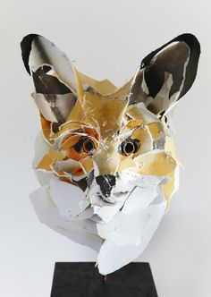 FOX 25 ~ Anna-Wili Highfield.  Her sculptures are stitched together from archival cotton paper.