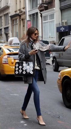 Miranda Kerr, street style, NY