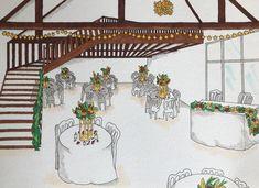 Réalisation d'un croquis de salle mariage exotique #croquis #weddingdesign #weddingdecor Decoration, Wedding Planner, Cherry, Fair Grounds, Paris, Ile De France, Sketch, Exotic Wedding, Wedding Bride