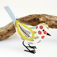 So cute. Fabric Bird, Scandinavian Style. I need to make one of these!