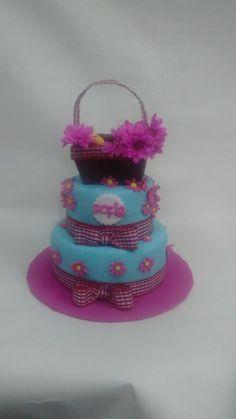 Torta jardin de flores Desserts, Food, Food Cakes, Flowers, Tailgate Desserts, Deserts, Essen, Postres, Meals
