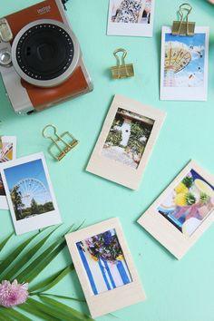 Kreative DIY-Idee zum Nachbasteln: Bunte Rahmen aus Balsaholz für Instax-Bilder und Polaroids selbermachen | DIY Tutorial mit Step by Step Tutorial