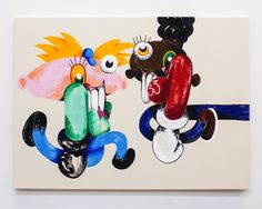 The painter who completely sold out his first solo show tells us why 'Hey, Arnold' belongs in the history books. Cartoon Kunst, Cartoon Art, Reading Cartoon, Dark Pop, Make Art, History Books, Art Inspo, Art Drawings, Contemporary Art