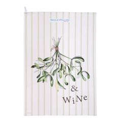 Mistletoe and Wine Tea Towel Mistletoe And Wine, Christmas Wine, On The High Street, Watercolor Artwork, Tea Towels, Creative Business, Personalized Gifts, Unique Gifts, England