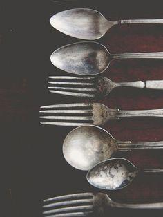 vintage forks + spoons | flatware + tableware