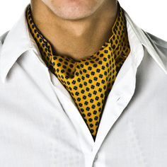 Image from http://www.tiesplanet.com/images/gold-floral-design-casual-cravat-p218-268_image.jpg.