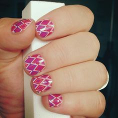 Summer Southwestern Diamond nail wraps by Jamberry Nails are my daughter's favorite!  http://www.danilynn.jamberrynails.net