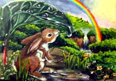 #aceo #animals #bunny #art #pic #bunny #rainbow #waterfall #rain #storm #amazing #smile #old #fashion #style #flowers #hair #awesome #nice #eyes #loveit #colorful #beauty #sweat #face #green #new