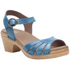 Dansko - Marlow Sandal - Women's - Blue Washed Leather