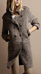 Burberry sweater coat.