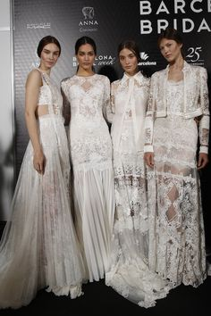 Amazing lace! Yolan Cris wedding dress collection Barcelona Bridal Week 2015 See more: http://bridalmusings.com/2015/05/backstage-barcelona-bridal-week-2015/