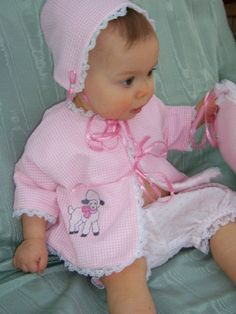 Pink Lamb Ensemble Baby Outfit