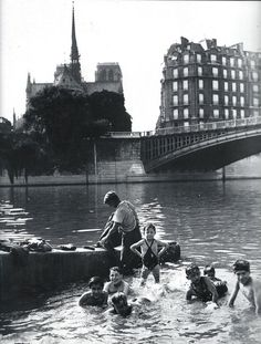 'Bath in the Seine' - Paris, Circa 1930.