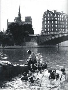 'Bath in the Seine' - Paris, Circa 1930.