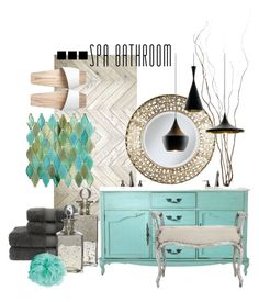 """""""Spa Bathroom"""" by missbeaheyvin ❤ liked on Polyvore featuring interior, interiors, interior design, dom, home decor, interior decorating, Pier 1 Imports, Christy, Shabby Chic i Tom Dixon"""