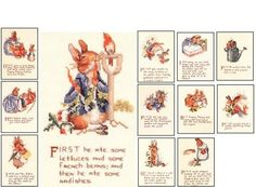 Peter Rabbit Cross Stitch Patterns | The Tale of Peter Rabbit Cross Stitch Pattern Booklet