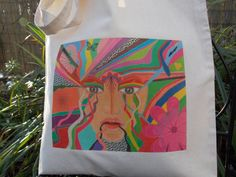 Tote Bag Original Art Design Canvas Art by LouSimArt on Etsy