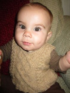 Cable Knit Baby Vest 2T 4T Custom by SoliloquyByKendra on Etsy, $45.00