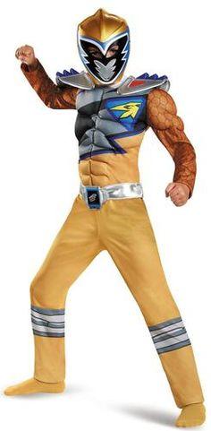 Power Rangers Dino Charge: Gold Ranger Muscle Child Costume 2