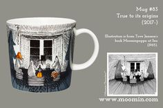 Mug – True to its origins Produced: Illustrated by Tove Slotte and manufactured in Thailand by Arabia. The original. Moomin Mugs, Tove Jansson, Marimekko, Origins, Finland, Minnen, Retro, Thailand, The Originals