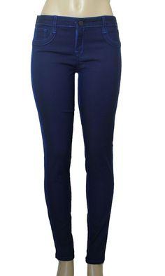 BLEULAB Womens Skinny Jeans Legging Jeggings Denim 25 Royal Blue Dark Reversible #Bleulab #SlimSkinnyLeggings