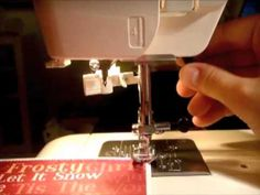How to use a sewing machine to sew on paper or cardstock... (video tutorial)