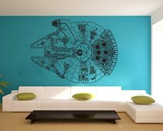 Star Wars Millennium Falcon V3 Vinyl Wall Art Decal by dinaamon, $59.99