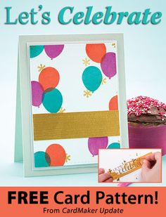 Let's Celebrate Download from CardMaker newsletter. Click on the photo to access the free pattern. Sign up for this free newsletter here: AnniesNewsletters.com.